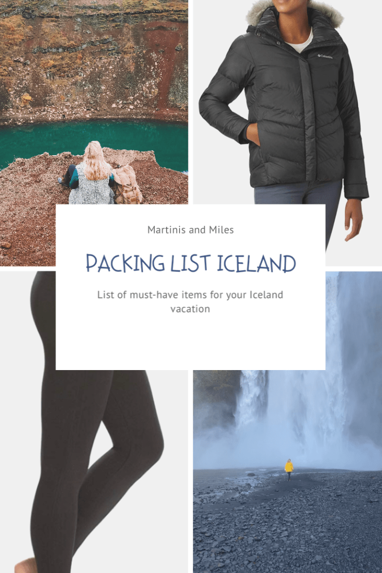 Image of items to pack on an Iceland trip