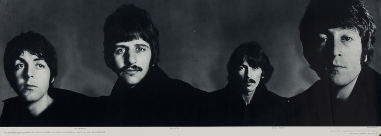 the_beatles_banner_richard avedon_1967_musicposter