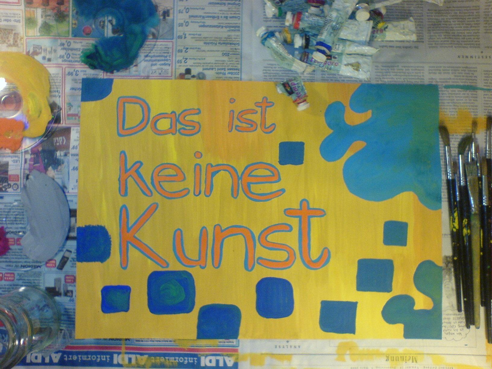 Paul Pretens: »D.I.K.K.« Acryl (Tempera) auf Karton. Freiwehr 2009.