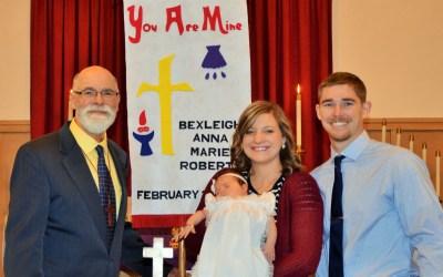 Bexleigh Anna Marie Roberts – Baptism
