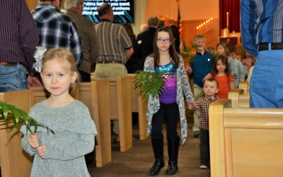 Palm Sunday at Martin Luther Lutheran Church
