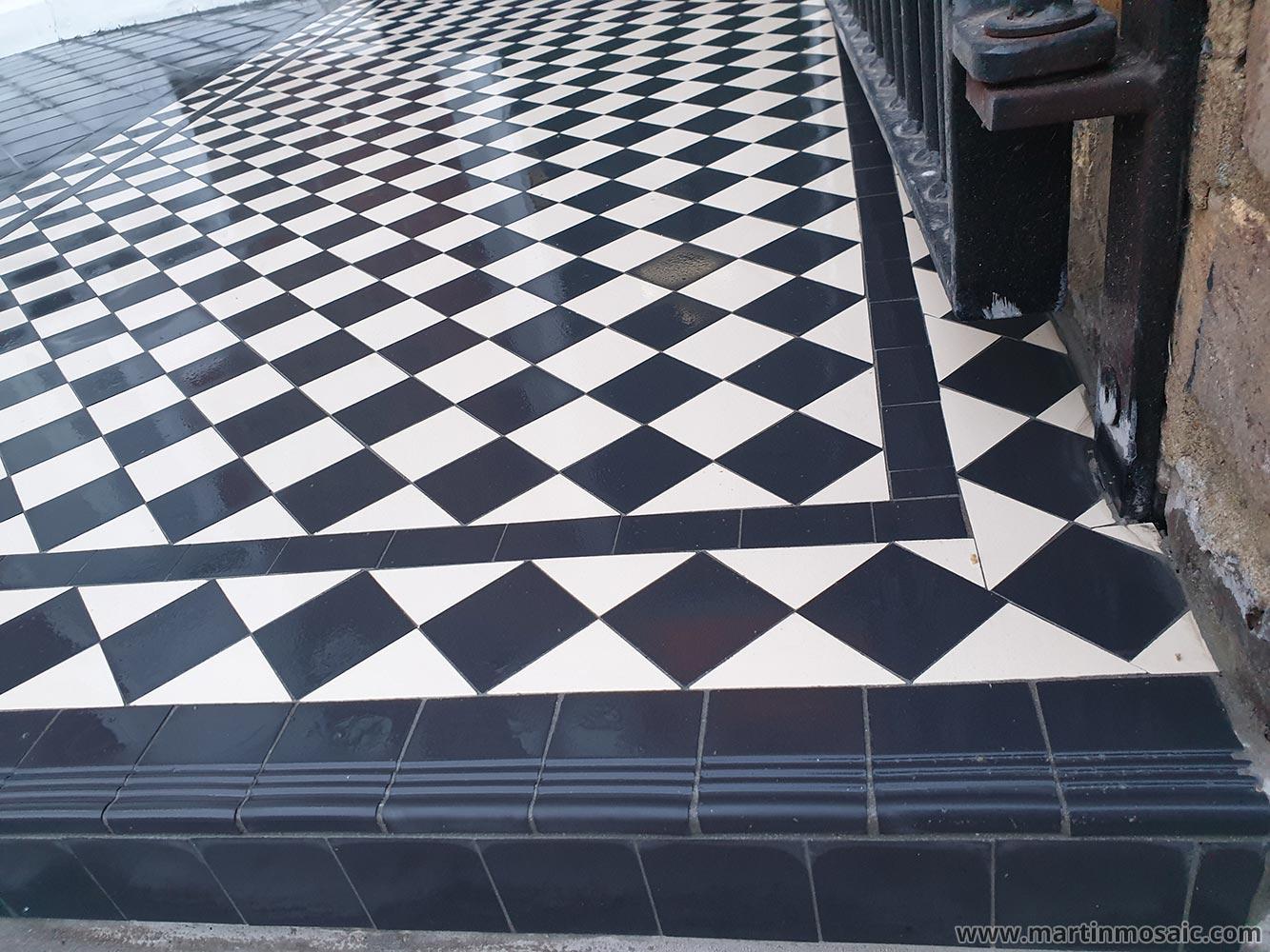 step tread round edge tiles martin