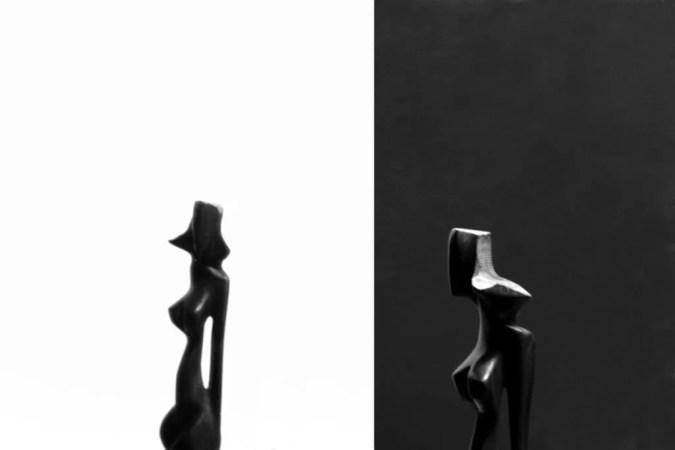 foto bianco e nero specchio