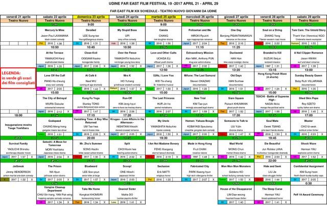 Far East Film Festival di Udine 2017: calendario film consigliati