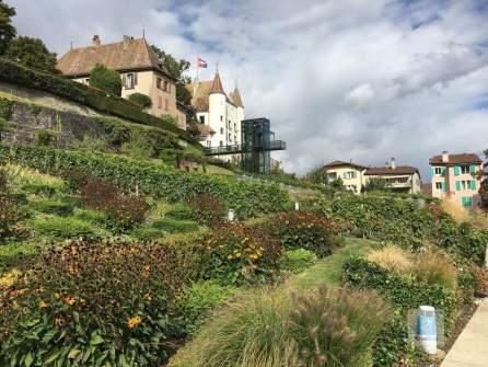 Der Schlossgarten in Nyon