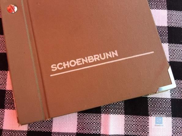 Die Karte vom Restaurant Schoenbrunn