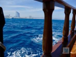 Auf dem Schiff unterwegs
