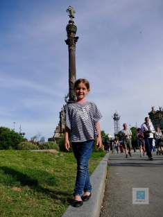 Vor der Columbus Statue