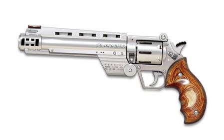 A .50 caliber revolver.