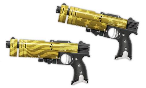 Duke Nukems Stars and Stripes pistols.