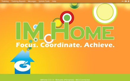 Menu design for IM Home.