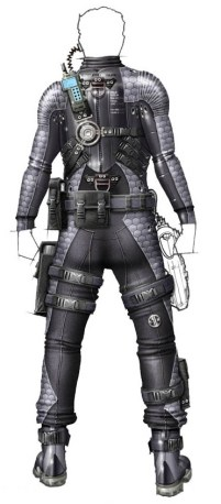 The final design for the Ethan Hunt stealth suit.