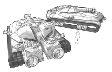 Design for the main tank to be used in the renewed Battlezone game.