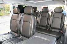 Comfortable seats in the Mercedes Benz minivan