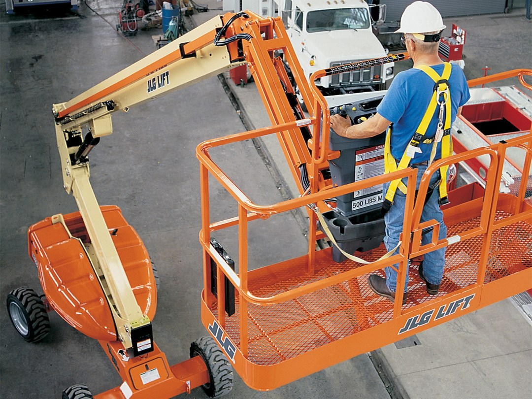 Workers Using a Man-Lift for Plant Maintenance | Working at Heights