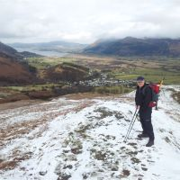 Winter Wainwrights afternoon - Barrow and Outerside plus Ard Crags and Knott Rigg - (inc snow posing tips)