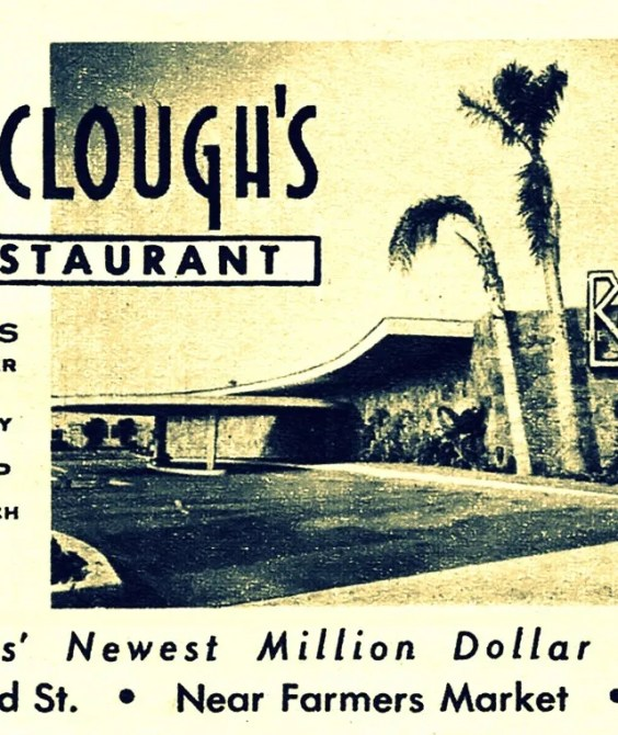 The Barraclough's Restaurant - 6220 West 3rd Street. Near Farmer's Market. Ph – WE 4-1188