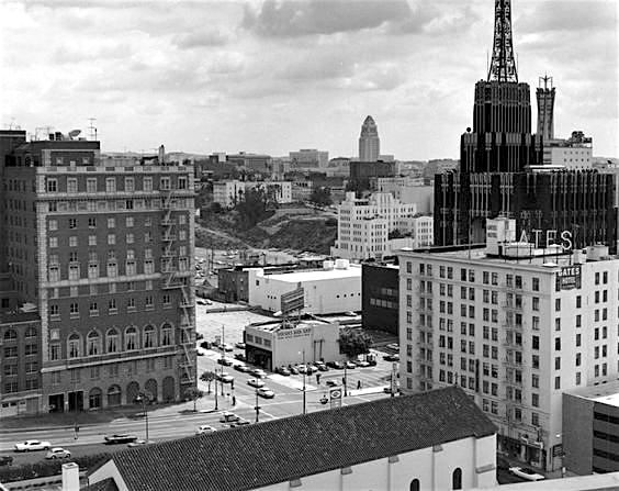 Jonathan Club Building, 6th and Figueroa, Los Angeles, 1952