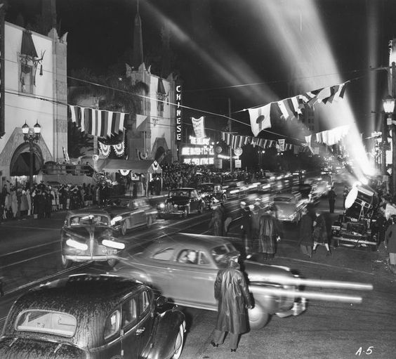 """Grauman's Chinese Theater premiere of """"The (Fighting) Sullivans"""" (1944)"""