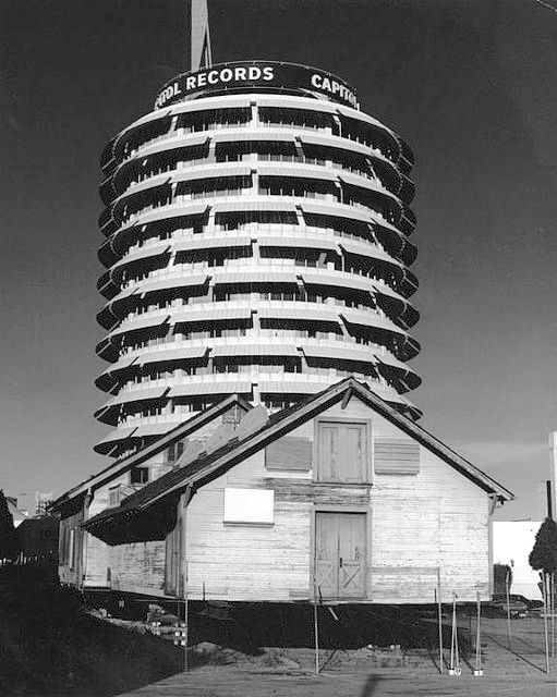 Lasky-DeMille Barn on Vine Street, opposite the Capitol Records building, Hollywood