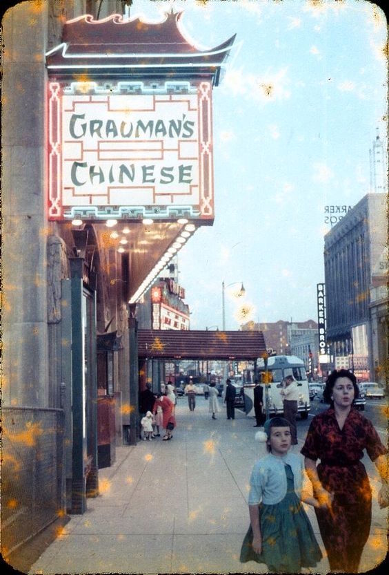 "Grauman's Chinese Theater during the run of ""A Farewell to Arms"", Hollywood Boulevard December 1957 to February 1958"