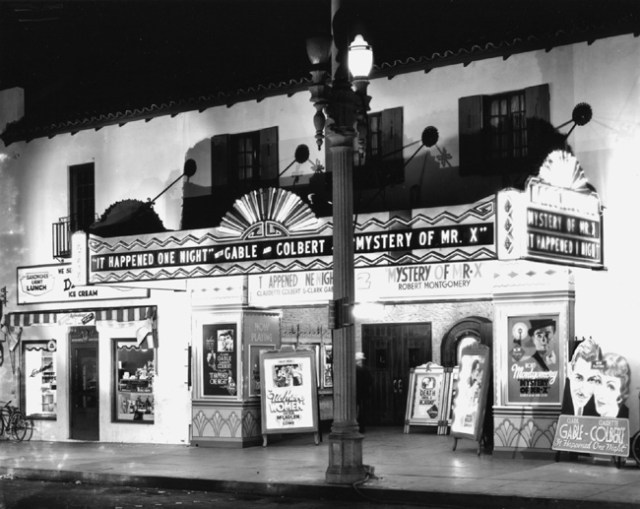 "Larchmont Theater, Los Angeles, showing ""It Happened One Night"" (1934)"