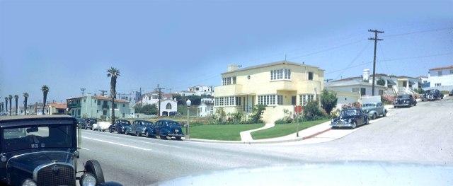 Santa Monica, California street scene, 1949