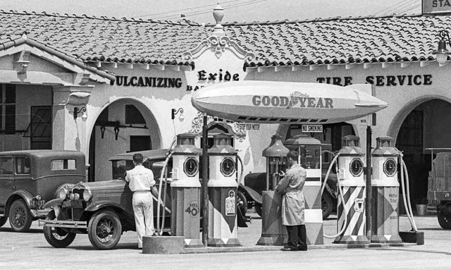 Goodyear Tire Store And Gas Station At South La Brea Ave