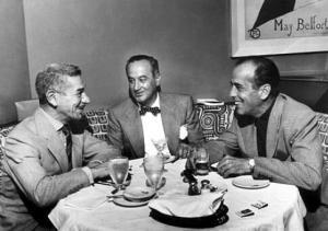 """Prince"" Romanoff with Humphrey Bogart, 1952"