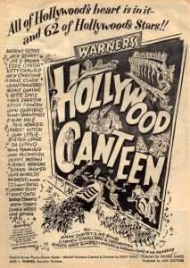 "Warner Bros' ""Hollywood Canteen"" movie poster"