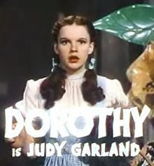 "Judy Garland sings ""Over The Rainbow"""