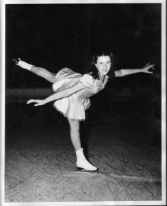 Young Louella Rehfield ice-skating
