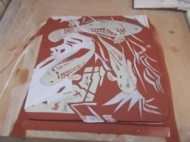 Cut paper stensils