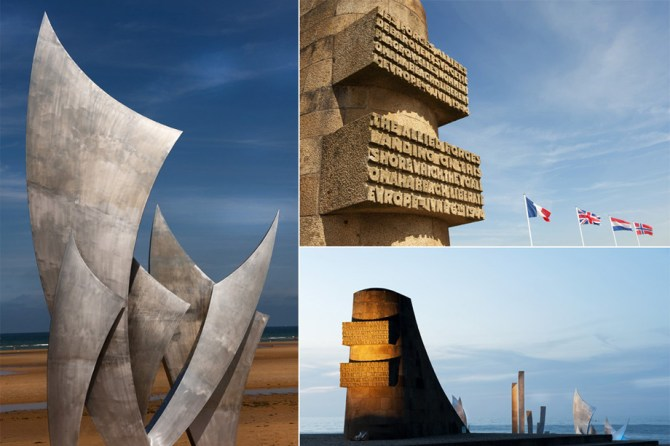 D-Day monument at Vierville-sur-Mer