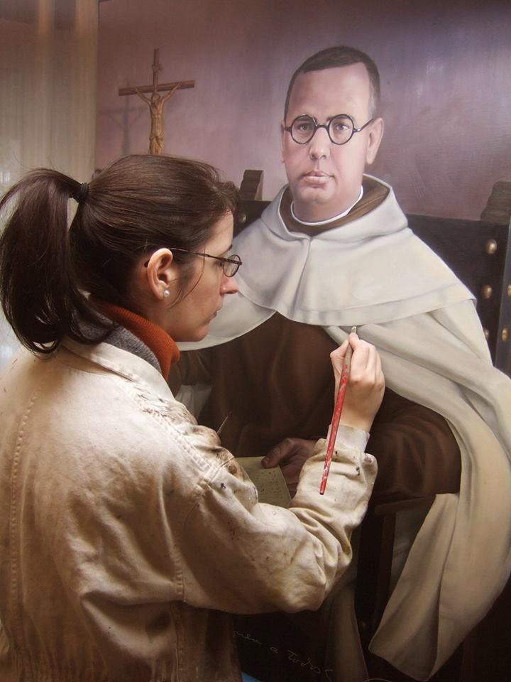 Beatriz Barrientos Bueno dibuja a fray Tirso.