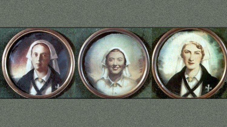 Las tres enfermeras mártires de Astorga: Olga, Octavia y Pilar.