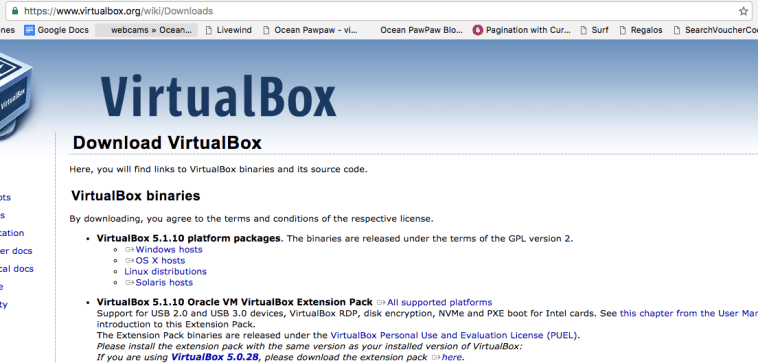 de aqui descargamos virtual box