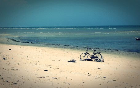 Fisherman's bicycle at Bagamoyo