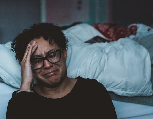 Woman grieve