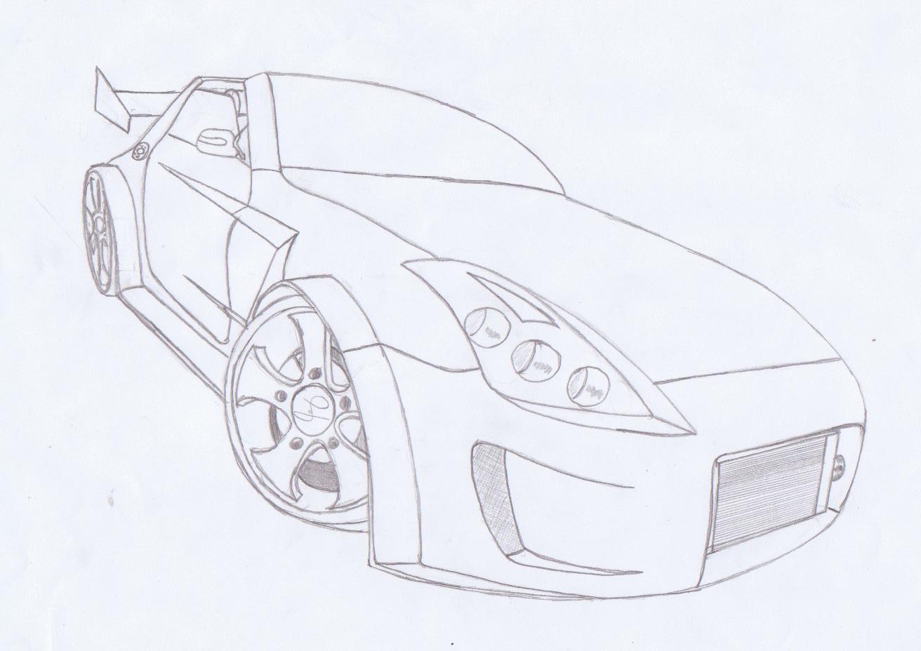 Comment Dessiner Une Nissan 350z