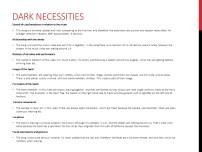 Dark Necessities Info