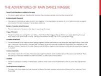 Rain Dance Maggie Info