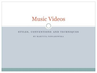 Types of Music Videos