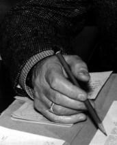L44351A #2 hand, pencil, tweed