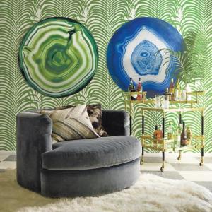 Geode Emerald Aluminum Wall Art