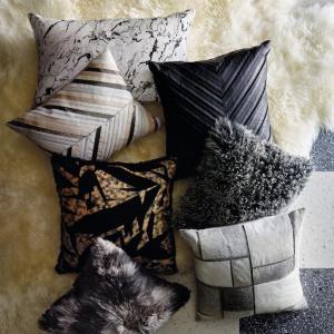 Snow Tipped Mongolian Fur Pillow