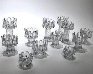 Set Of 12 Crystal Candleholders