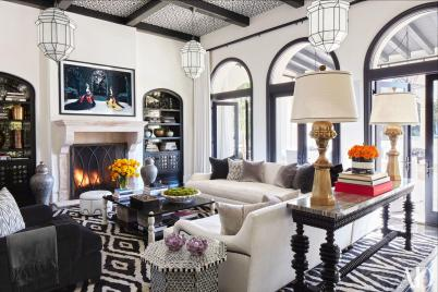 Khloe Kardashian family room Martyn Lawrence Bullard
