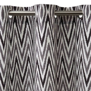 Curtain With Grommets Zebide White