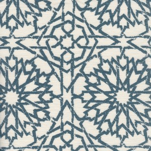 Mamounia Petite ocean indoor fabric by Martyn Lawrence Bullard